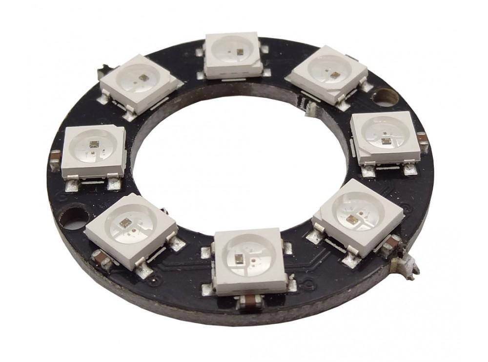 ماژول LED RGB حلقه ای 8 تایی WS2812