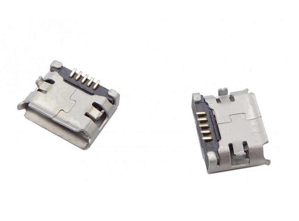 کانکتور Micro USB مادگی 5pin با دو هولدر سطحی SMD
