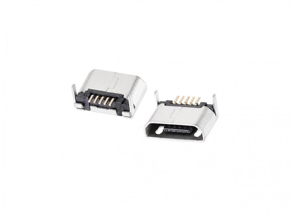 کانکتور Micro USB مادگی 5pin با دو هولدر DIP