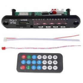 پخش کننده 5V - پنلی MP3 پشتیبانی از MicroSD و USB با ریموت کنترل