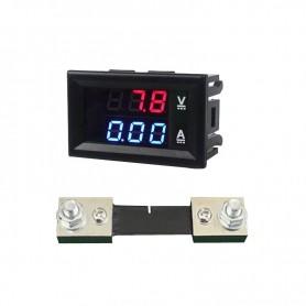 آمپرمتر ولتمتر DC روپنلی 100 آمپر 0v-100v به همراه شنت