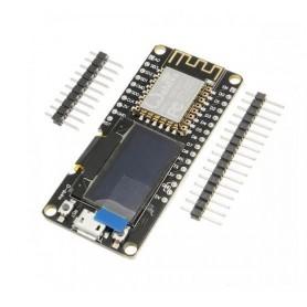 برد توسعه NodeMCU با نمایشگر OLED دارای هسته وایفای ESP-12E و مبدل CP2102
