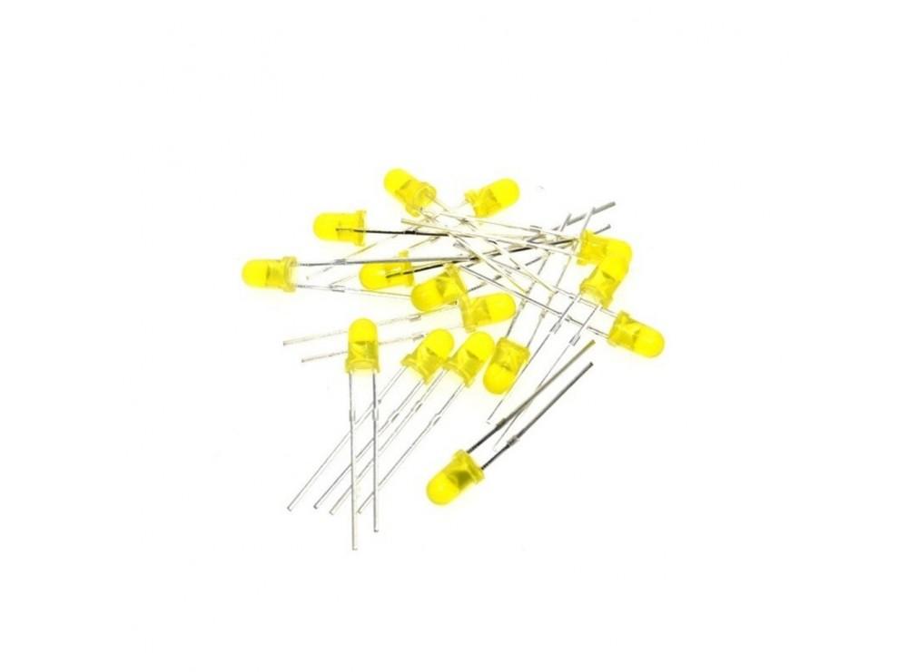 LED زرد 3mm مات