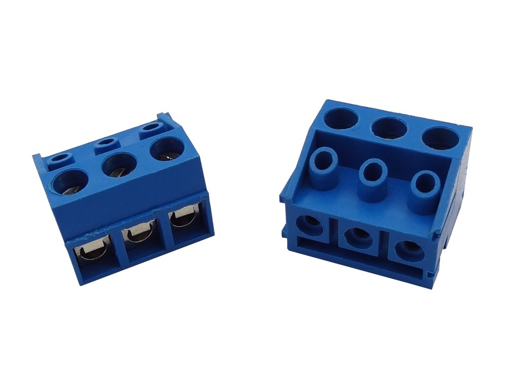 ترمینال پیچی مدل KF332-3pin رنگ آبی