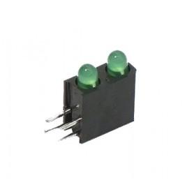 LED قابدار دوبل سبز رایت 3mm