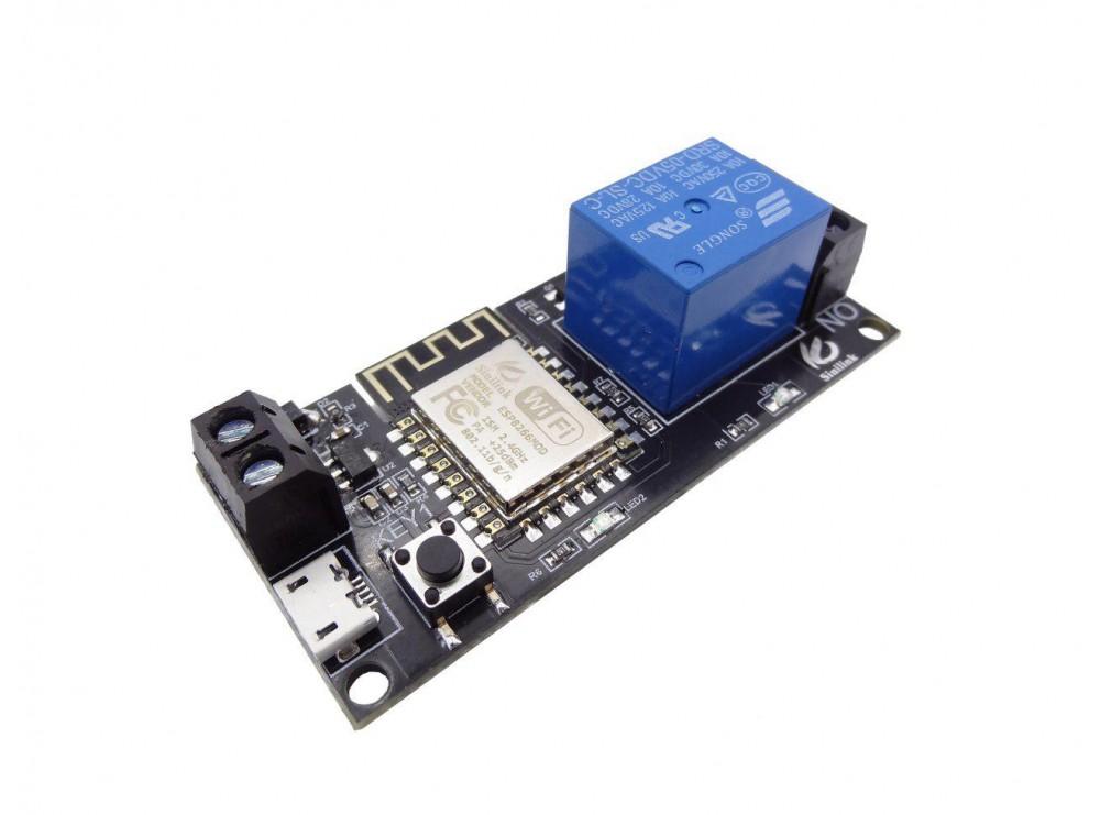 ماژول رله تک کاناله با قابلیت کنترل WIFI 2.4G توسط موبایل