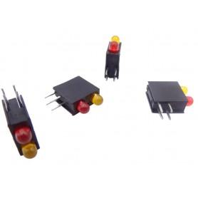 LED قابدار دوبل قرمز-نارنجی رایت 3mm
