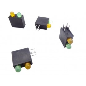 LED قابدار دوبل سبز-نارنجی رایت 3mm