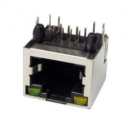 کانکتور شبکه RJ45 فلزی ساده چراغدار