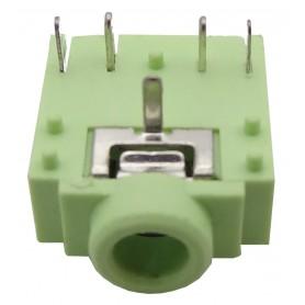جک هدفن 3.5mm استریو کوتاه -سبز 3F07
