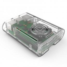 کیس رزبری پای شیشه ای مناسب برای نسخه 2 و 3 با قابلیت نصب فن