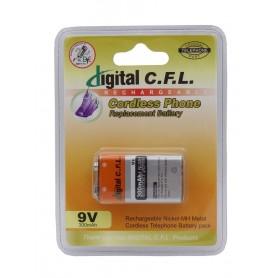 باتری 9 ولت 300mAh کتابی قابل شارژ Digital C.F.L