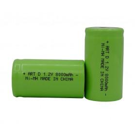 باتری شارژی نیکل-کادمیوم 1.2v بزرگ سایز D ظرفیت 8000mAh
