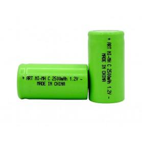 باتری شارژی نیکل-متال هیدرید 1.2v متوسط سایز C ظرفیت 2500mAh