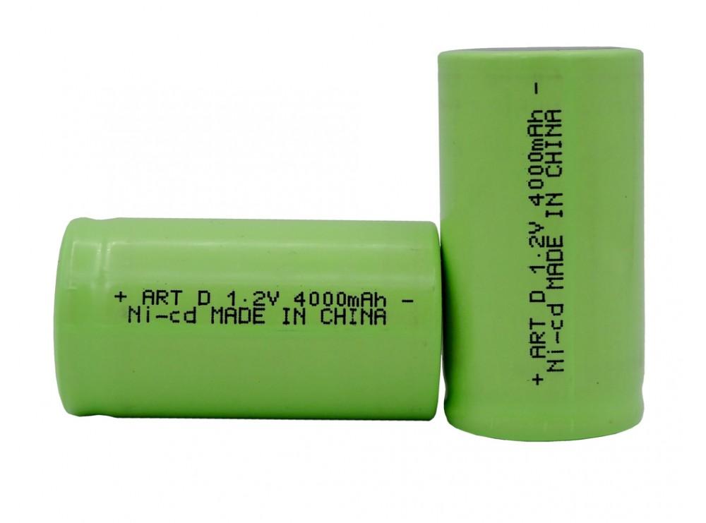 باتری شارژی نیکل-کادمیوم 1.2v بزرگ سایز D ظرفیت 4000mAh
