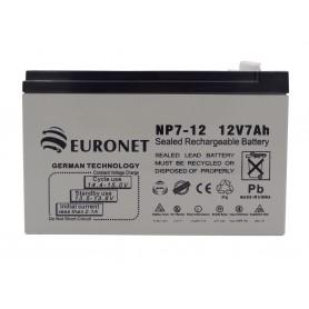 باتری خشک 12 ولت 7 آمپر ساعت مارک Euronet