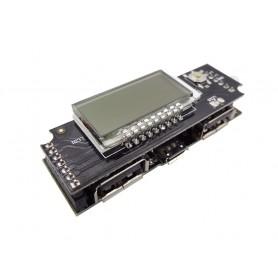 ماژول ساخت پاوربانک Fast Charge دارای نمایشگر و دو خروجی 5V 1A , 2.1A USB