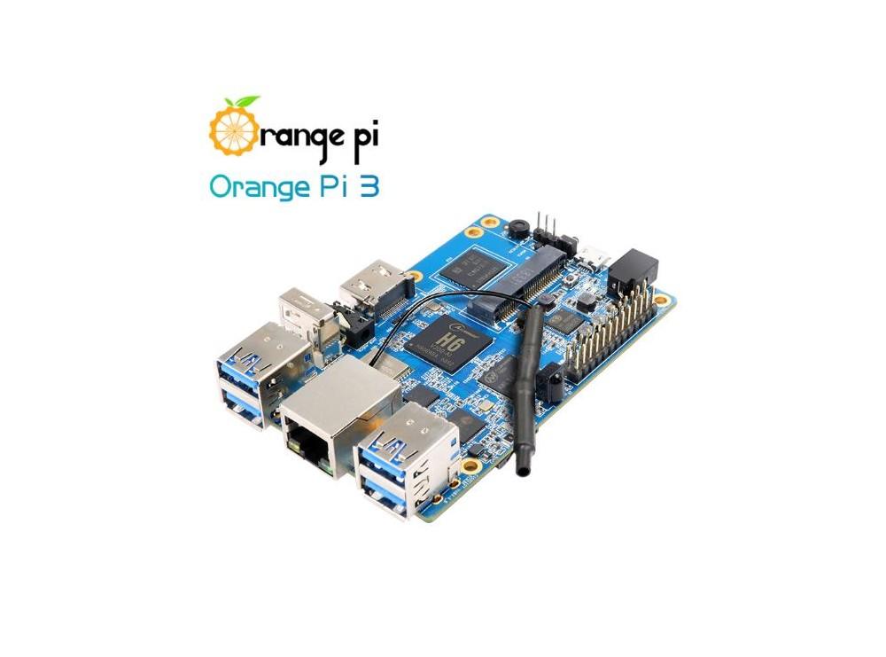 برد چهار هسته ای Orange PI 3 دارای WiFi، بلوتوث داخلی و 1GB RAM