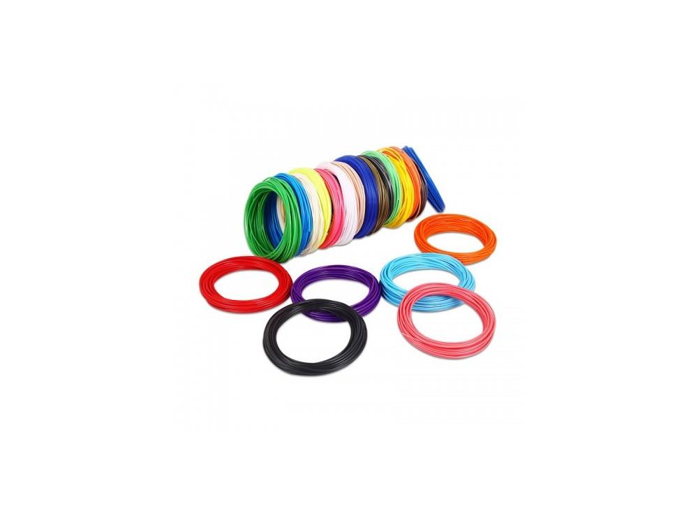 فیلامنت 5متری پرینتر 3 بعدی ABS سفید قطر 1.75mm