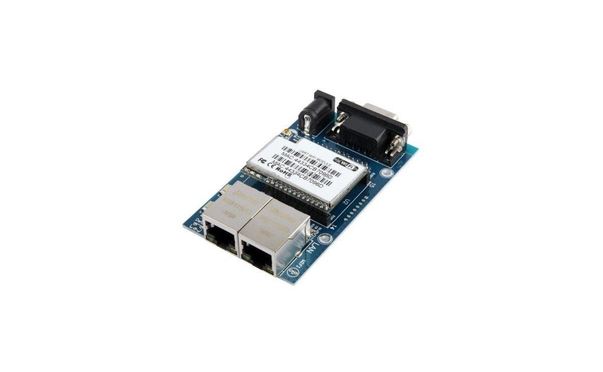 ماژول سریال به اترنت UART WIFI HLK-RM04 به همراه برد راه انداز