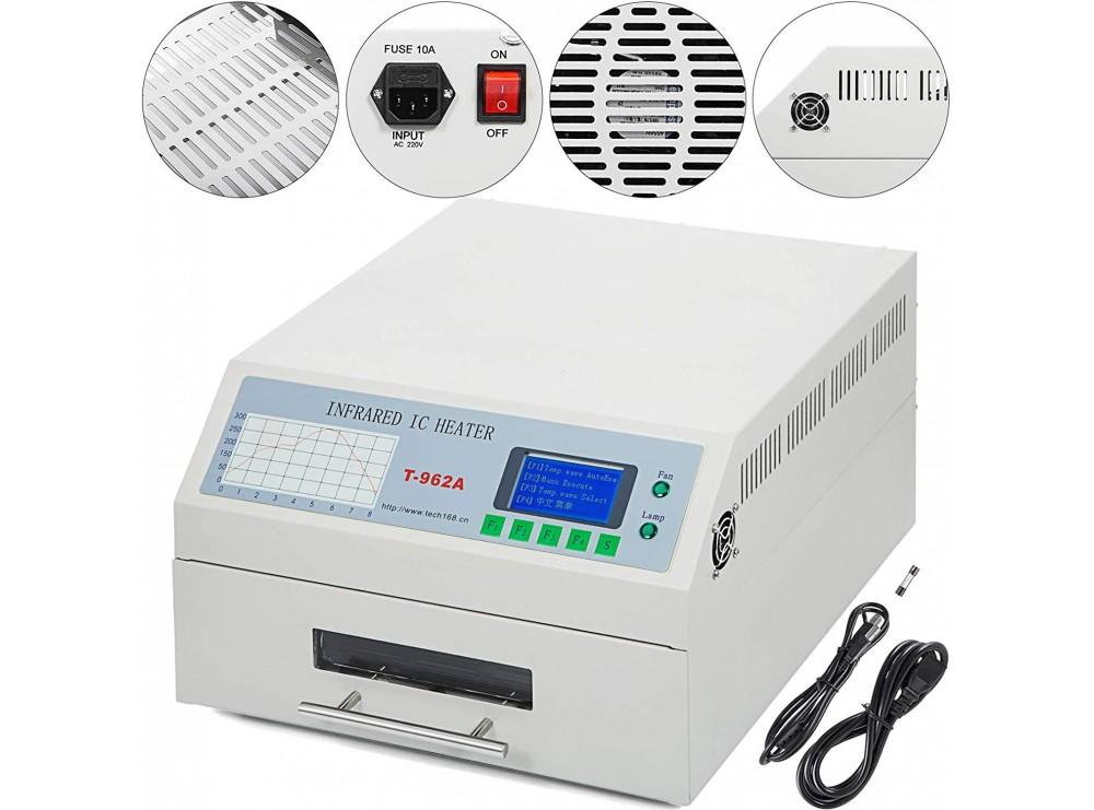 کوره هوای گرم 1500W کشویی مدل T962A