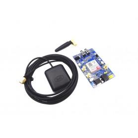 برد کاربردی صنعتی SIM808 به همراه آنتن GSM و آنتن اکتیو GPS