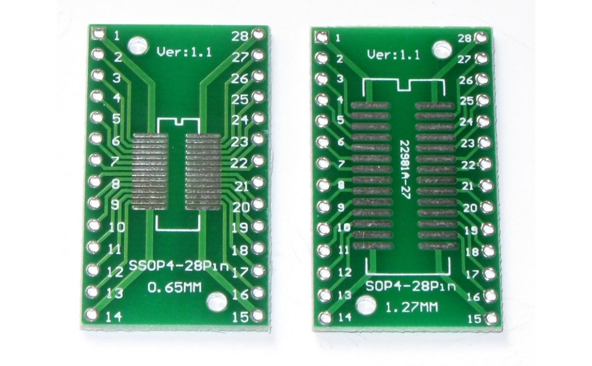 تبدیل SMD به DIP پکیج SOP28 SSOP28 TSSOP28