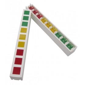 بارگراف 9 تایی سه رنگ
