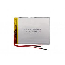 باتری لیتیوم پلیمر 3.7v ظرفیت 2050mAh