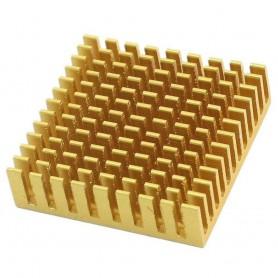 هیت سینک طلایی سایز 4x4cm مخصوص المان سردکننده