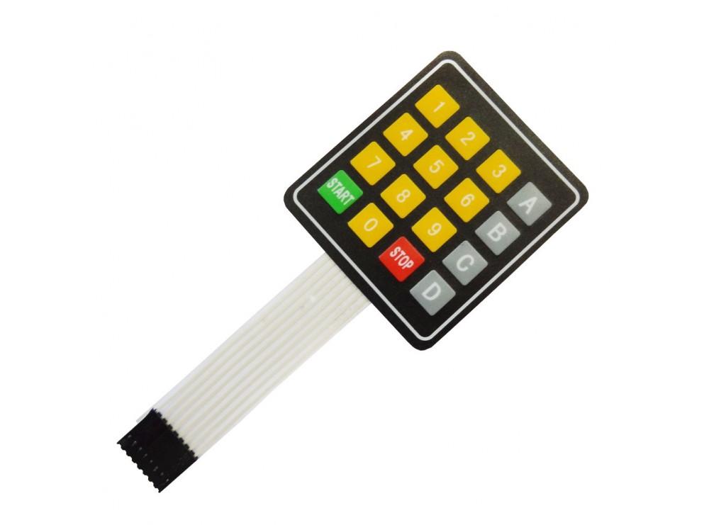 کیپد 4x4 فلت دار مدل Start-Stop-0-9 A-D زرد-طوسی