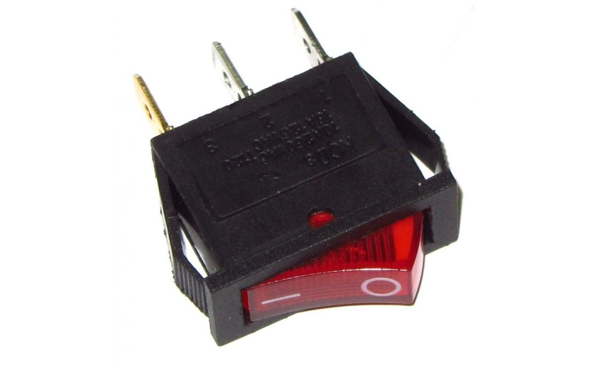 کلید راکر باریک چراغدار 25X20X10