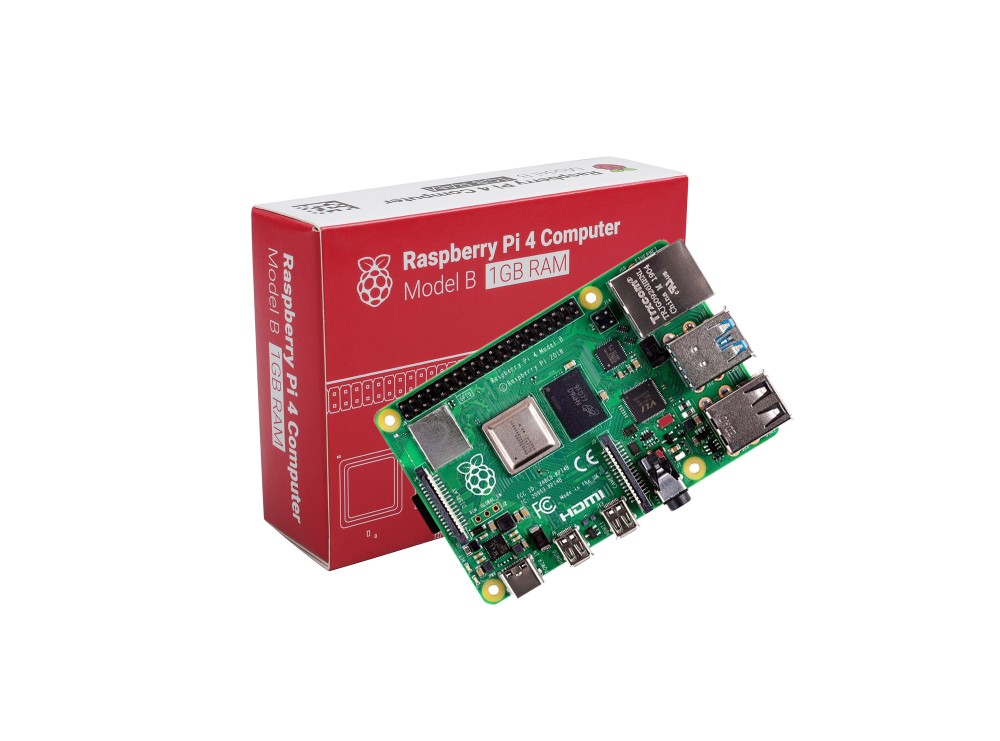 برد رزبری پای Raspberry Pi 4 مدل B تولید انگلستان با رم 1GB