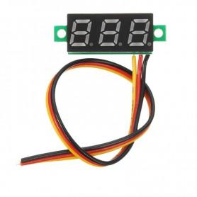 ماژول ولتمتر 3 دیجیت DC0-100V سایز 0.28 اینچ