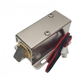 قفل الکترونیکی درب 12 ولتی Solenoid Lock مدل Push-Pull زبانه ای بزرگ سایز 53X23X28mm