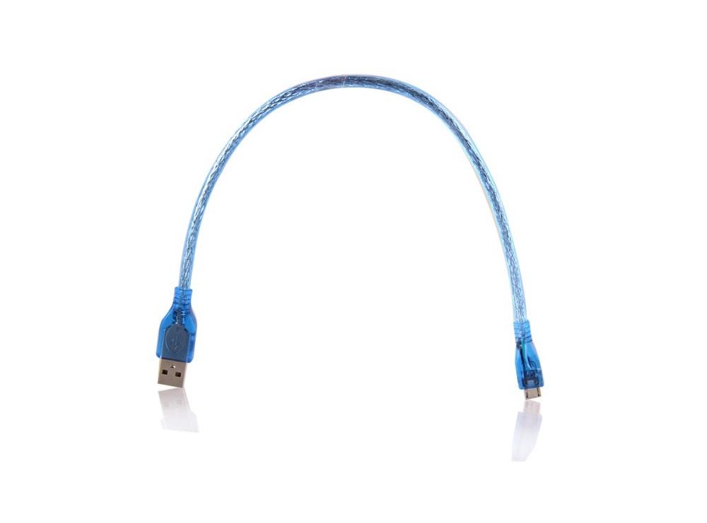 کابل USB Micro شیلددار 30 سانتیمتری