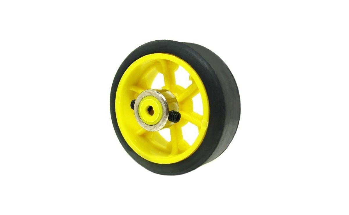 چرخ ربات 7 سانت با بوش فلزی