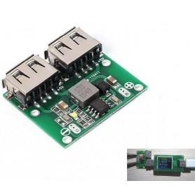 ماژول رگولاتور DC به DC کاهنده دارای ورودی 6V تا 26V و دو خروجی 3A 5V USB