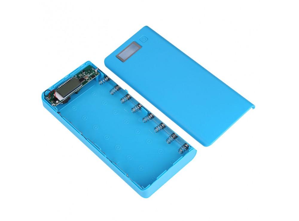 کیس پاوربانک 20000mAh دو خروجی USB به همراه نمایشگر و برد 8 باتری
