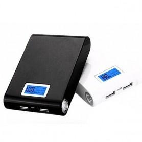 کیس پاوربانک 12000mAh دو خروجی USB به همراه نمایشگر و برد 4 باتری
