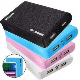 کیس پاوربانک 12000mAh دو خروجی USB به همراه برد 4 باتری