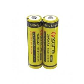 باتری لیتیوم یون 3.7v سایز 18650 2400mAh مارک FXHW شیرینگ دوتایی
