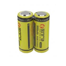 باتری لیتیوم یون 3.7v سایز 26650 5000mAh مارک FXHW شیرینگ دوتایی