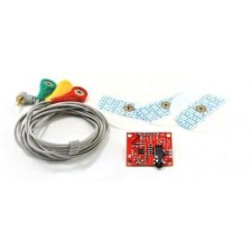 ماژول سنسور الکتروکاردیوگرافی ECG - ضربان قلب AD8232 به همراه پراب