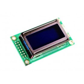 LCD کاراکتری 2x8 بک لایت آبی
