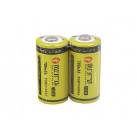 باتری لیتیوم یون 3.7v سایز 16340 700mAh مارک FXHW شیرینگ دوتایی