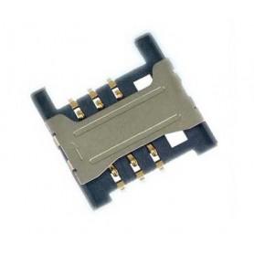 سوکت سیم کارت میکرو 6PIN پلاستیکی با هولدر فلزی