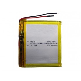 باتری لیتیوم پلیمر 3.7v ظرفیت 2500mAh مارک HST