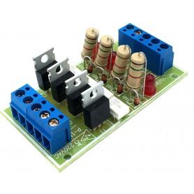 شیلد ترایاک مبدل سطح ولتاژ DC به 220VAC با ولتاژ ورودی 6 تا 24 ولت چهار کانال