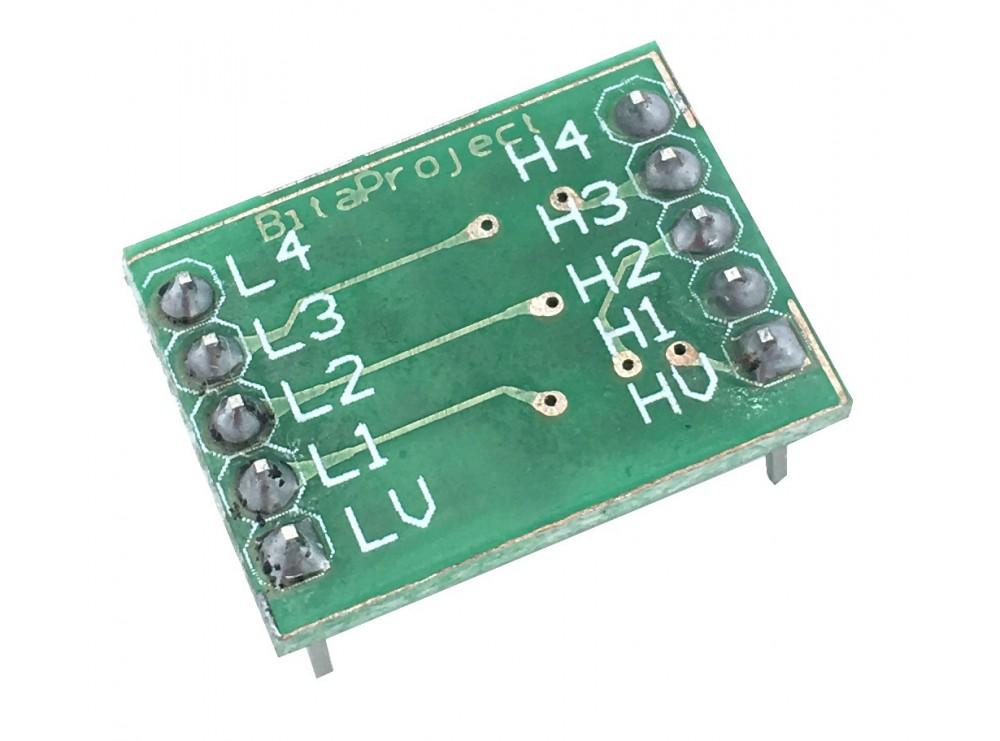 ماژول مبدل سطح ولتاژ دو طرفه Rx-Tx چهار کاناله